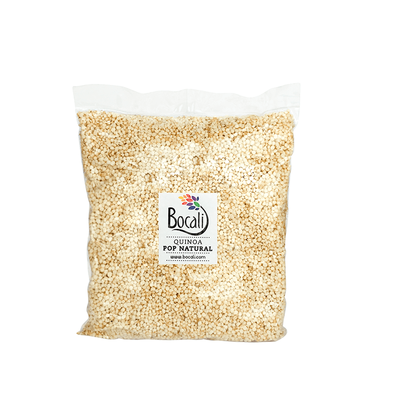 Quinoa Pop natural de Bocali, para todo Chile.