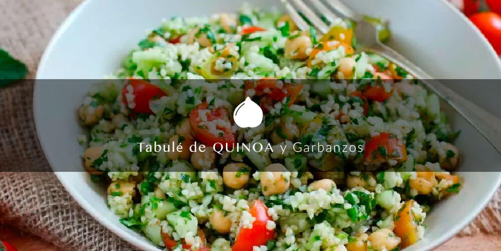 quinoa con garbanzos